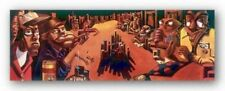The Poker Game Justin Bua African American Art Print 12x36