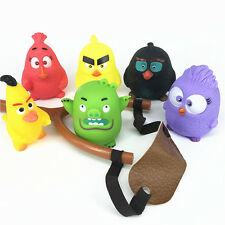 Fun Angry Birds Figures Slingshot Shooting Flip Bird Game Kids Boy Girl Toy Gift