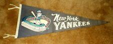 Vintage 1960`s New York Yankees Baseball Pennant Flag