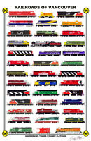 "Railroads of Vancouver 11""x17"" Railroad Poster by Andy Fletcher signed"