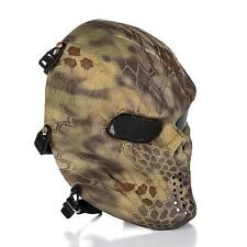 New Skull Skeleton Full Face Safety Mask Protective Gear For Airsoft/BB Gun/CS