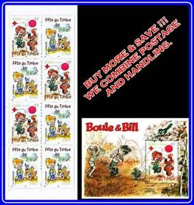 FRANCE 2002 RED CROSS BOULE & BILL booklet + S/s MNH MEDICINE