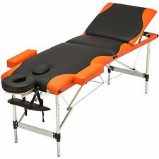 3 Fold Portable Massage Table Aluminum Facial Spa Bed Tattoo with Carry Case