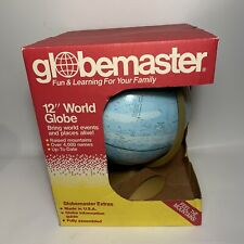 "Replogle Globemaster 12"" Raised-Relief World Globe Bright Blue Design - NEW"