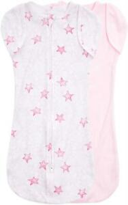 Aden + Anais ESSENTIALS EASY SWADDLE SNUG - TWINKLING STARS - PINK Baby BN