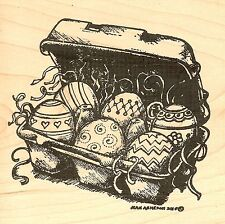 Easter Egg Carton Wood Mounted Rubber Stamp NORTHWOODS - NEW, PP9715