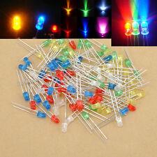 100PCS Colorful 3mm LED Light Bulb Emitting Diode Bulbs Lamps Useful Decor Light