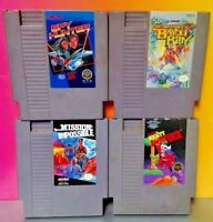Game Lot - Nintendo NES Tested Authentic Spy Hunter Bomb Jack Impossible Billy