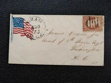 GUERRA civile: HIRAM, Maine (1861) #26 BANDIERA patriottico copertura a 5th Maine Soldato