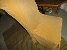 SURE FIT DEEP HONEY GOLD AMBER VELVET DINING CHAIR PARSONS COVER WITH