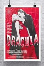 Dracula 1931 Vintage Horror Movie Poster Rolled Canvas Giclee Print 24x34 in.
