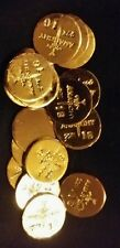 1 GRAM BAR USA BULLION 1g 22K PLACER FINE GOLD ROUND FROM MINE Y LOT 157 ANARCHY