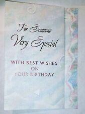 1 Birthday Greeting Card/Envelope Someone Very Special Love Happy Friend Cherish