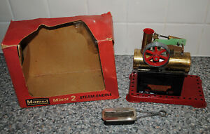 Vintage MAMOD MINOR 2 Stationary Steam Engine Model + Box