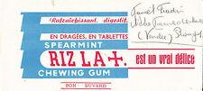 Buvard    Chewing Gum Riz la