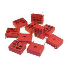 10 WIMA Impulsfester Polypropylen Folienkondensator MKP10 400V 0,1uF 15mm 089718