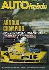 AUTO HEBDO n°83 du 6 Octobre 1977 GP USA NURBURGRING Gr5 ESTORIL F2  GOLF GTI
