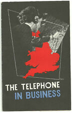THE TELEPHONE IS BUSINESS G.P.O BOOKLET WITH REPLY CARD