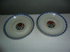 2 Ridgways Hand Painted Bedford Ware Avignon Saucers England Vintage China