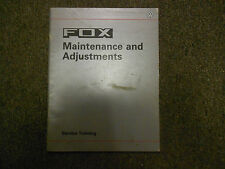 1987 VW FOX Maintenance & Adjustments Service Training Repair Shop Manual OEM 87