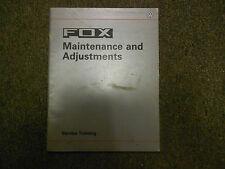 1987 VW FOX Maintenance & Adjustments Service Training Repair Shop Manual OEM 87