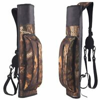 Camo Target Hunting Archery Quiver Back Hip Waist Bag Arrow Bow Holder Pouch