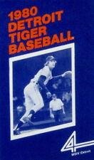 1980 Detroit Tigers Pocket Schedule (Wdiv Tv) - Near Mint