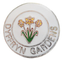 Dyffryn Gardens Vale of Glamorgan Wales Small Crest Town Pin Badge