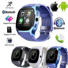 Military Grade-T8 Bluetooth Smart Watch Facebook Whatsapp Sony Camera - BLUE