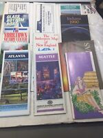 Vintage Lot of 16 City & State Maps And Guides