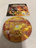 Star Wars: Demolition (Sega Dreamcast, 2000) Disc And Manual Only TESTED