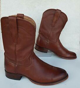 "NEW Tecovas Boots ""The Earl"" Roper/Cowboy Brown Leather/Bourbon Calf Sz 9.5 D"