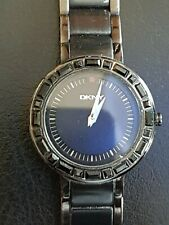 Ladies Black Ion Plated Stainless Steel DKNY Quartz Wrist Watch NY-3899