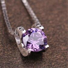 Wholesale Fashion 925 Sterling silver Necklace Pendant Crystal Jewelry Fine gift