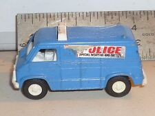 Vintage Tootsietoy Blue Police  S.W.A.T. Van