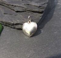 Schöner Silber Anhänger Herz Heart Liebe Love Schlicht Elegant Glatt Modern Edel