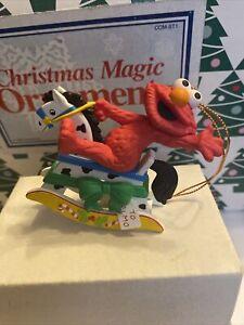 Sesame Street Elmo Jim Henson Christmas Grolier Ornament New In Box