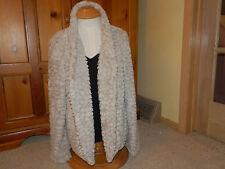 Womens Jacket size Large Frenchi Jacket size L Faux Fur Jacket size L Tan NWT