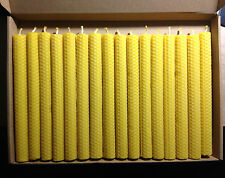 40 PCS BEESWAX  HAND ROLLED CANDLES