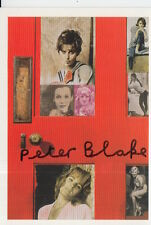 PETER BLAKE HAND SIGNED 6X4 POSTCARD ART MEMORABILIA GIRLIE DOOR.