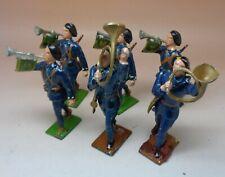 LR/GM 6 soldats chasseurs musiciens guerre14-18 Plomb creux 1/32 Excellent Etat