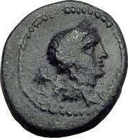 ELAIA  AEOLIS Original 133BC Authentic Ancient Greek Coin DEMETER Wreath i64794