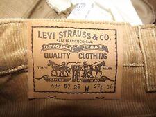 """Levis 632 57 23 cavo di Dead Stock Vintage W25"""" L36"""" Straight Fit (originale) 769"""