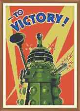 Dalek (victory) Cross Stitch Chart  8.4 x 12.0Inches