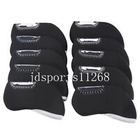 10pcs Neoprene Window Golf Iron Head Cover Headcover For Mizuno Taylormade PING