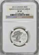 2012 CANADA S$20 SILVER QUEEN'S DIAMOND JUBILEE NGC SP69