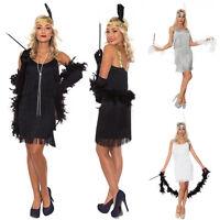 Women Lady 20s 1920s Charleston Flapper Chicago Gatsby Fancy Dress Party Costume