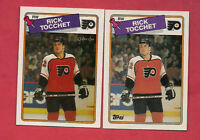 1988-89 TOPPS / OPC # 177 FLYERS RICK TOCCHET 2ND YEAR  CARD