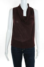 Jean Paul Gaultier Wine Red Sheer Knit Loose Fit Blouse size Medium