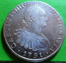 Carlos Iv 8 Reales 1791 Potosi -Pr- Vf+ Spanish Colonial